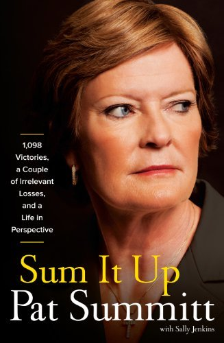 Pat Head Summitt Sum It Up 1 098 Victories A Couple Of Irrelevant Losses A Large Print
