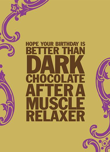 Greeting Card Dark Chocolate
