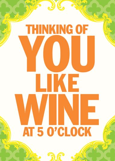 Greeting Card Wine