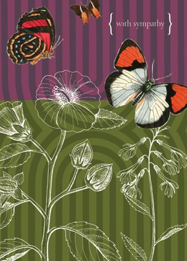 Greeting Card Sympathy Butterflies