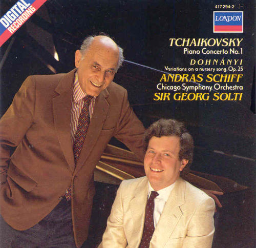 Tchaikovsky Dohnanyi Sir Georg Solti Andras Schiff Piano Concerto 1 Nursery Variations Schiff Solti
