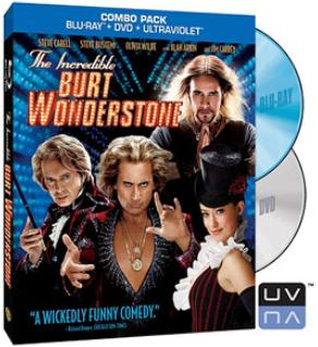 Incredible Burt Wonderstone Carell Carrey Blu Ray+dvd+uv