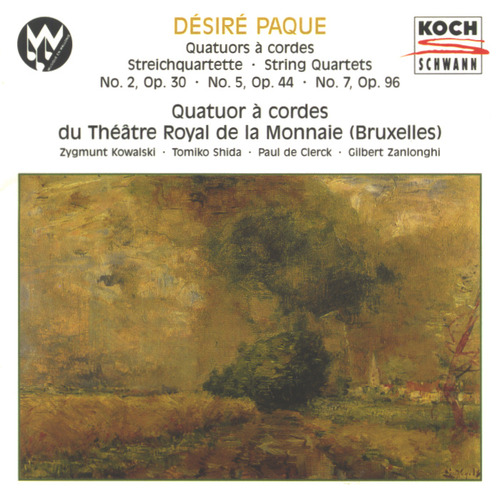 Paque String Quartet Of The Theatre Of Monnaie Qua Paque String Quartet No. 2 Op 30 String Quart
