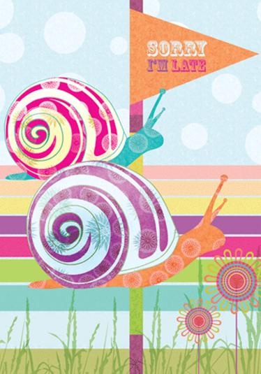 Greeting Card Snails