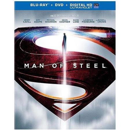 Man Of Steel Cavill Adams Shannon Costner Blu Ray Uv DVD