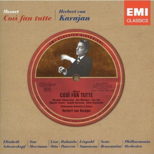 Richard Wagner Mozart Cosi Fan Tutte 3 CD Karajan Phil Orch