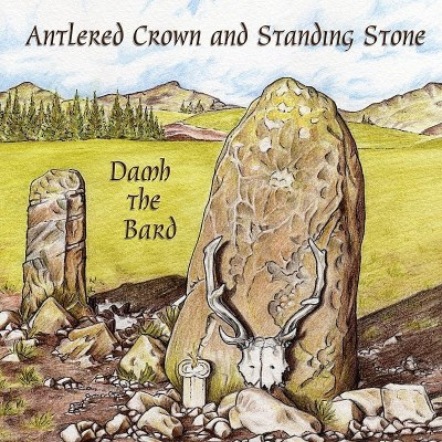 Damh The Bard Antlered Crown & Standing Ston