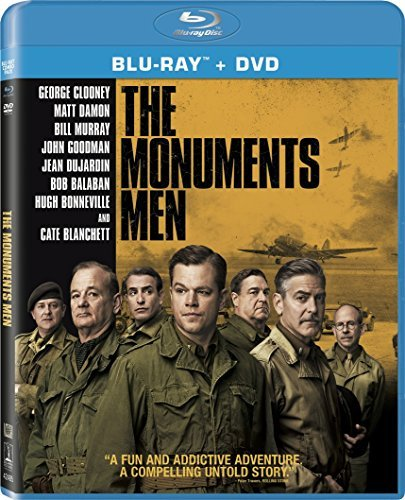 Monuments Men Clooney Damon Murray Blanchett Goodman Blu Ray DVD Uv Nr Ws