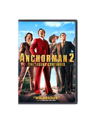 Anchorman 2 The Legend Continues Ferrell Carrell Rudd Koechner DVD Pg13 Ws