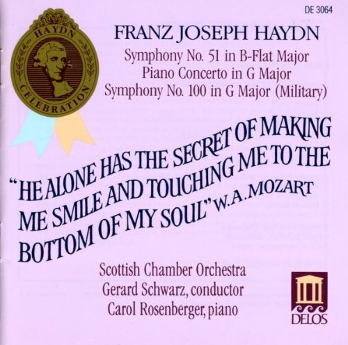 J. Haydn Sym 51 100 Con Pno 5 Rosenberger*carol (pno) Schwarz Scottish Co