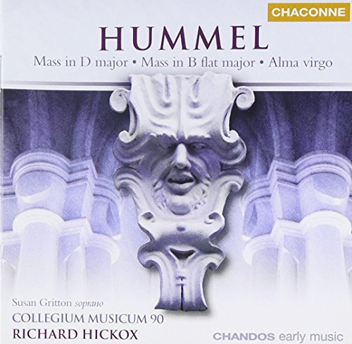 J.N. Hummel Mass In D Major Mass In B Flat Gritton*susan (sop) Hickox Collegium Musicum 90