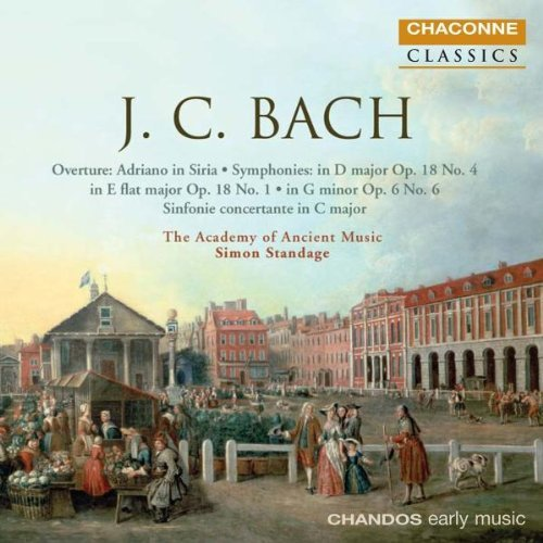 J.C. Bach Symphonies In D Major E Flat Standag Academy Of Ancient Mus