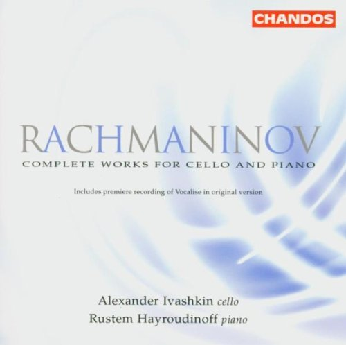S. Rachmaninoff Complete Works For Cello Ivashkin (vc) Hayroudinoff (pn