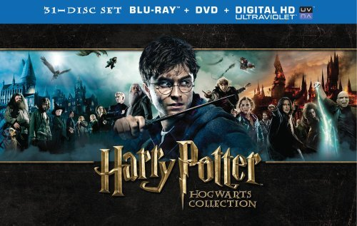 Harry Potter Hogwarts Collection Blu Ray DVD Uv 31 Discs