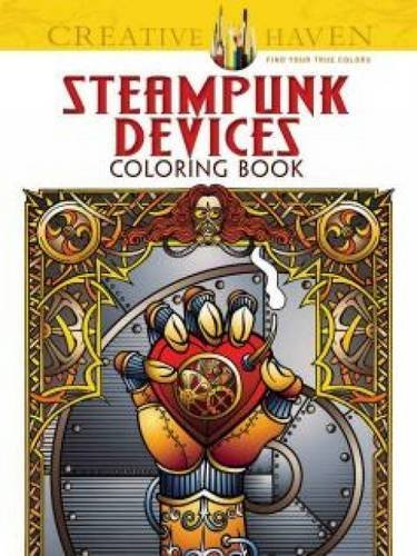 Jeremy Elder Steampunk Devices Coloring Book