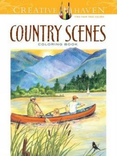 Dot Barlowe Country Scenes Coloring Book