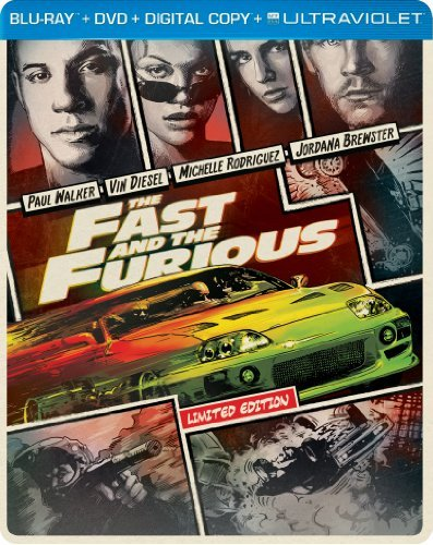 Fast & The Furious Fast & The Furious Blu Ray Steelbook Pg13