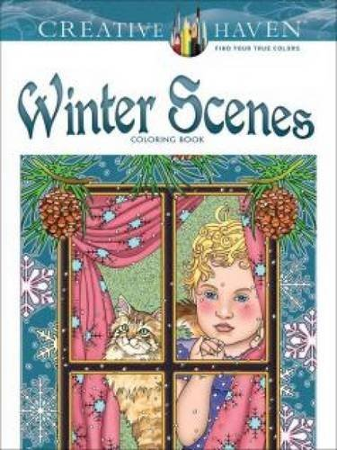 Marty Noble Creative Haven Winter Scenes Coloring Book First Edition