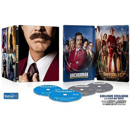 Anchorman 1 & 2 Anchorman 1 And 2 Steelbook Blu Ray And Digital Hd Blu Ray Steelbook