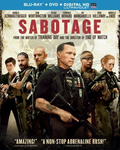 Sabotage Schwarzenegger Worthington Howard Blu Ray DVD Uv R