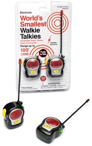 Toy World's Smallest Walkie Talkies