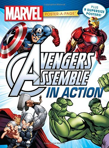 Disney Marvel Avengers Assemble In Action Poster A Page