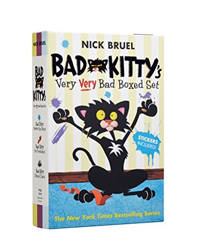 Nick Bruel Bad Kitty's Very Very Bad Boxed Set (#2) Bad Kitty Meets The Baby Bad Kitty For President