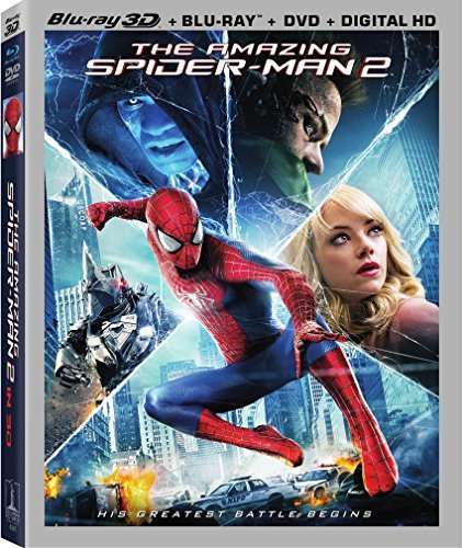 Amazing Spider Man 2 Garfield Stone 3d Blu Ray DVD Uv Pg13