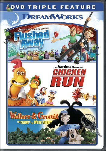 Flushed Away Chicken Run Wallace & Gromit Triple Feature DVD Pg