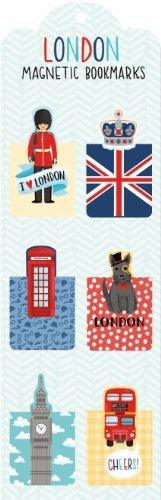 Galison London Magnetic Bookmarks
