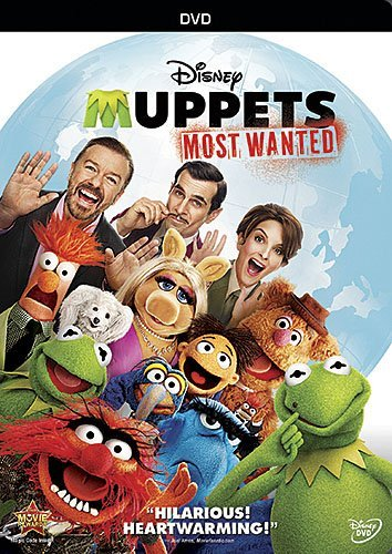 Muppets Most Wanted Gervais Burrell Fey DVD