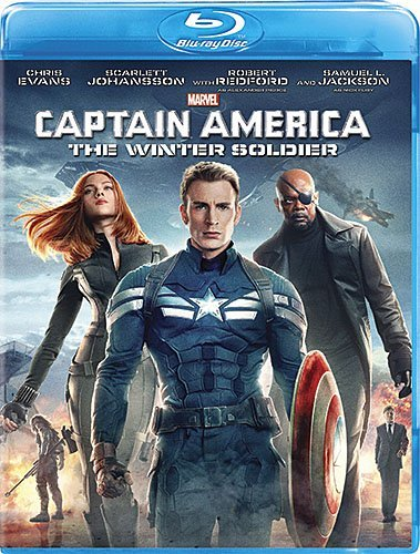 Captain America The Winter Soldier Evans Jackson Johansson Blu Ray Pg13