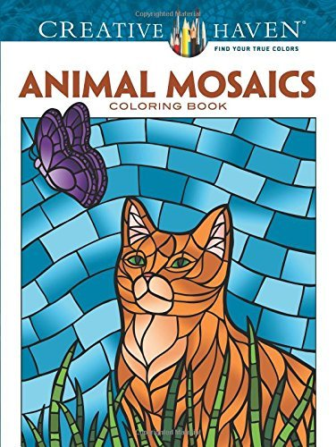 Jessica Mazurkiewicz Creative Haven Animal Mosaics Coloring Book First Edition