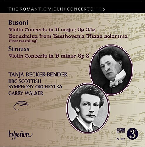 Busoni Strauss Becker Bend Romantic Violin Con 16