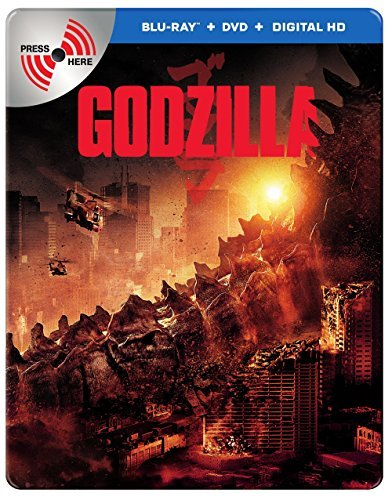Godzilla (2014) Taylor Johnson Olsen Cranston Blu Ray DVD Uv Metal Pack Pg13