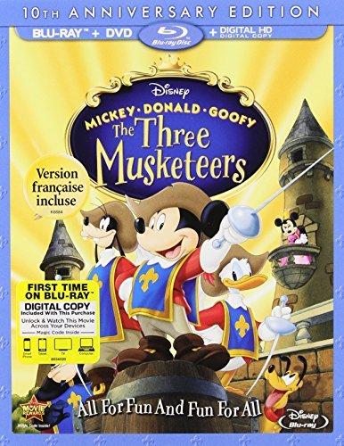 Mickey Donald Goofy Three Musketeers Disney Blu Ray DVD Dc G