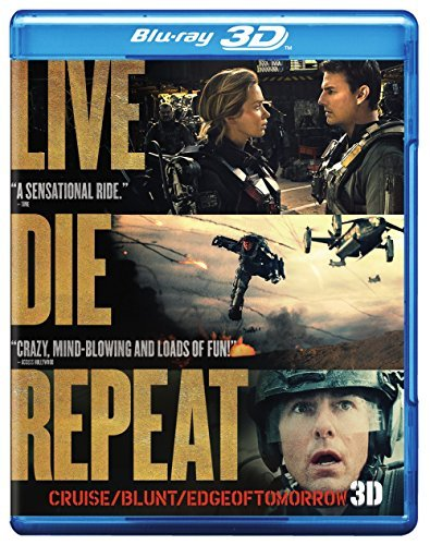 Edge Of Tomorrow Cruise Blunt 3d Blu Ray DVD Uv Pg13