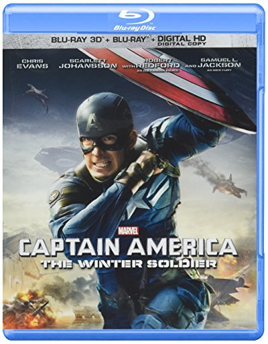 Captain America The Winter Soldier Evans Jackson Johansson 3d Blu Ray Dc Pg13