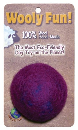 One Pet Magenta Marble Ball One Pet Planet 86010 2.75 Inch Wooly Fun Ball Dog Toy