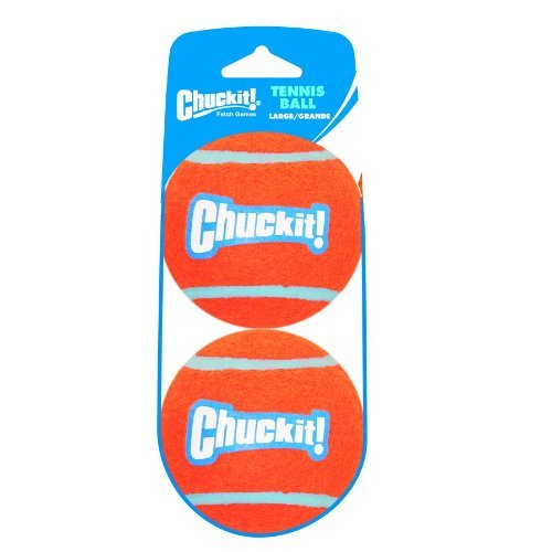 Chuckit Tennis Balls 2pk Lg Chuckit! Large Tennis Ball 3 Inch 2 Pack Shrink Sleeve Package