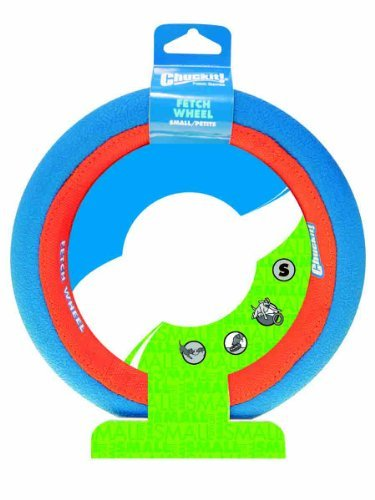 Chuckit Fetch Wheel Sm Orng Bl Chuckit Fetch Wheel Toy For Dogs Small