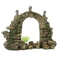 "Pure Aqu Stone Arch Design Elements Stone Jungle Relics Aquarium Ornament Size 11.5"" H"