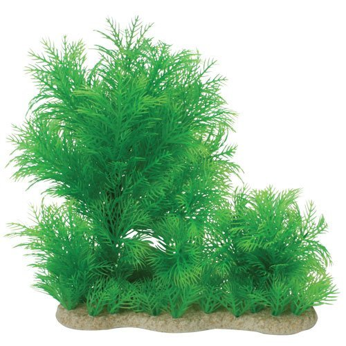 "Pure Aqu Plant Myriophylm 16"""" Natural Elements Myriophyllium Combo Aquarium Ornament In Green"