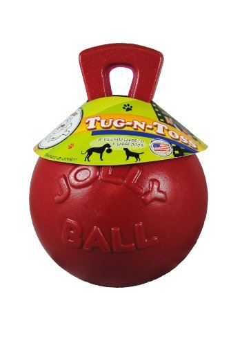 Tnt Ball Red 10in Jolly Pets Red Tug N Toss Jolly Ball 10 In