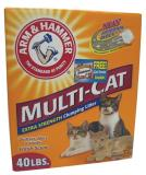 A&h Litter Clumping 40lb Arm And Hammer Clumping Cat Litter Multi Cat Strength 40 Pound Box