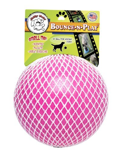 "Jolly Bounce N Play Ball 6"""" Or Jolly Pets Bounce N Play Dog Toy Vanilla Scented 6 Inch"