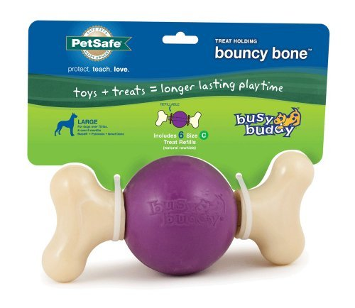 Prem Busy Bouncy Bone Lg Petsafe Busy Buddy Bouncy Bone Dog Toy Large