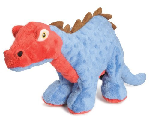 Quaker Spike Stegosaurus Blue Godog Dinos Sh70796 Spike With Chew Guard Technology Tough Plush Dog Toy
