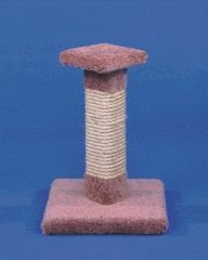 Ware Kitty Cactus W Sisal 18in Kitty Cactus W Sisal Scratch Post 13in X 13in X 18in