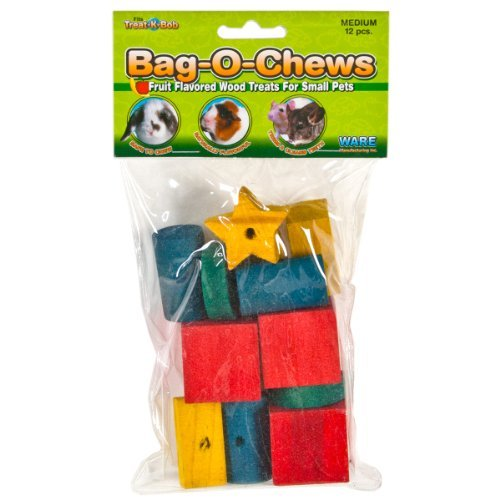 Ware Bag O Chews Med Wd 12pc Ware Pine Wood Bag O Chews Small Pet Treat Medium Pack Of 12